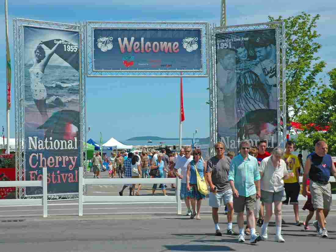 In Traverse City, which has hosted the National Cherry Festival since 1926, some residents say festivals occupy the public park too much, while others say it's a reasonable price to pay for the money it brings to businesses.