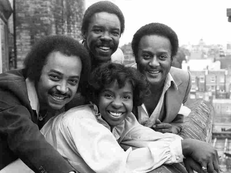 31st August 1978: Gladys Knight And The Pips (left to right) Merald 'Bubba' Knight, Edward Patten and William Sweet. (Photo by Ian Tyas/Keystone/Getty Images)