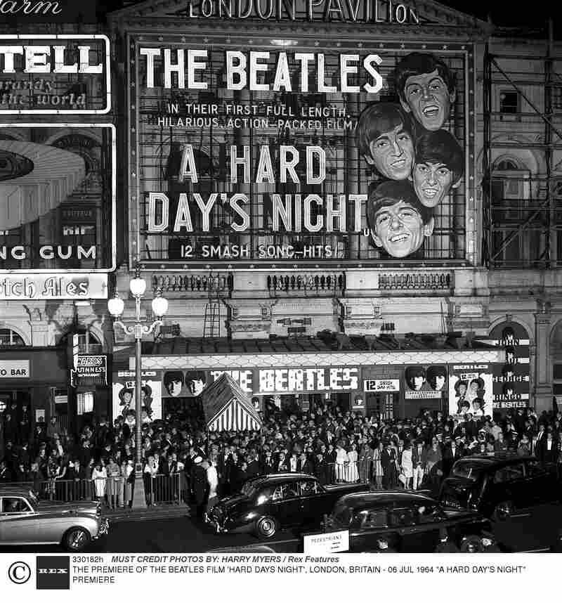 Outside The Hard Days Night film premiere on July 6, 1964.