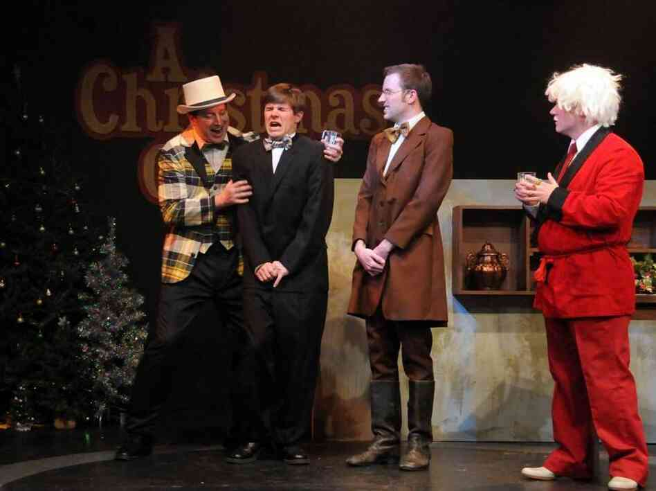 A recent staging of Invasion: Christmas Carol found the improv crew at Dad's Garage in Atlanta forced — by audience decree — to wedge Santa into the story of Scrooge and Tiny Tim.
