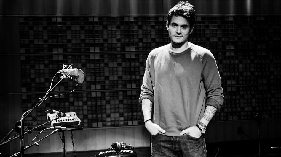 John Mayer in Studio 1 at NPR's Washington, D.C. headquarters. (NPR)