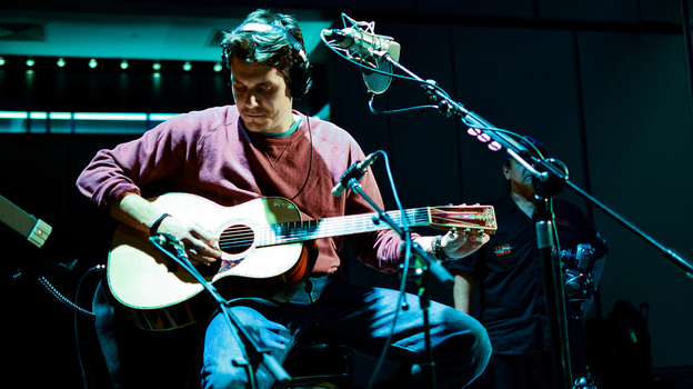 John Mayer in Studio 1 at NPR's Washington, D.C. headquarters. (NPR)