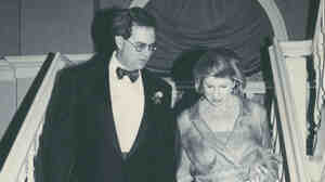 Nina Totenberg and David Reines at their wedding in 2000.