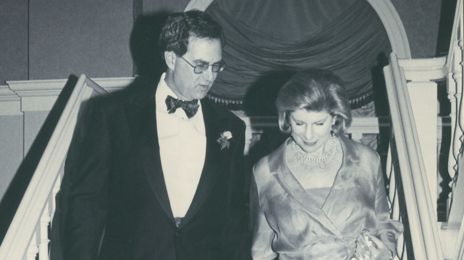 Nina Totenberg and David Reines at their wedding in 2000. (Courtesy of Nina Totenberg)