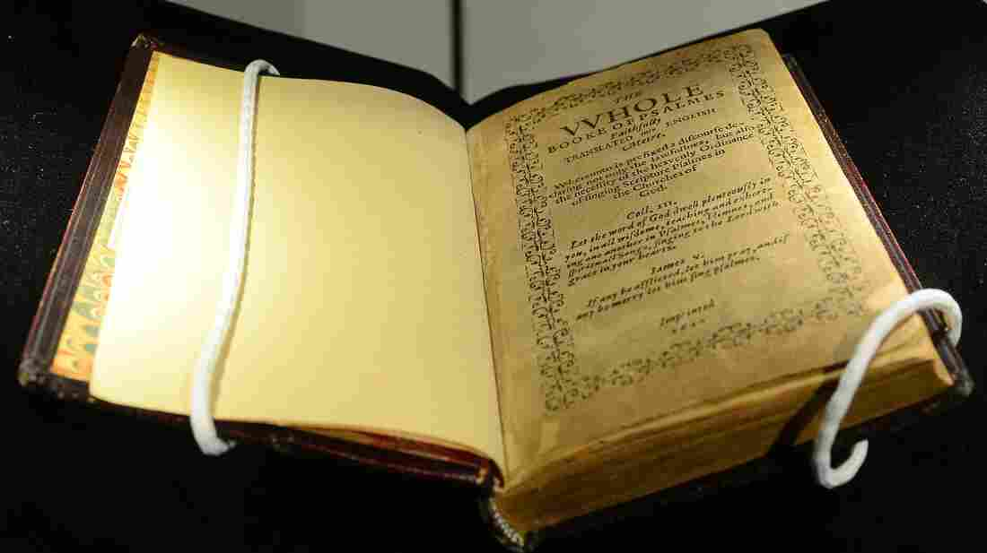 A copy of the Bay Psalm Book, which was printed in 1640 in Massachusetts. It was sold Tuesday at Sotheby's in New York.