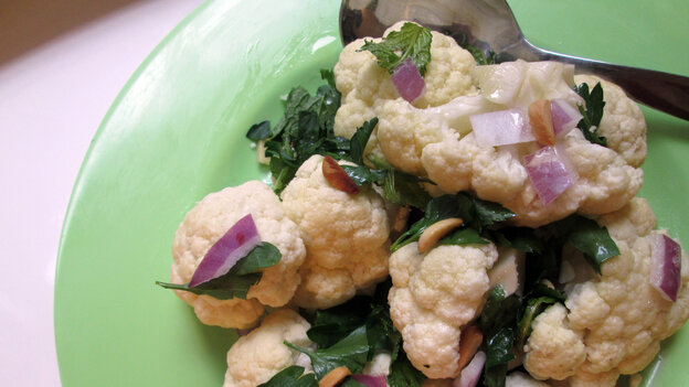 A bowl of Cauliflower Salad