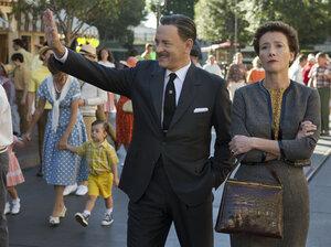 Tom Hanks plays the man himself, Walt Disney, alongside Emma Thompson as Mary Poppins author P.L. Travers, in Saving Mr. Banks.