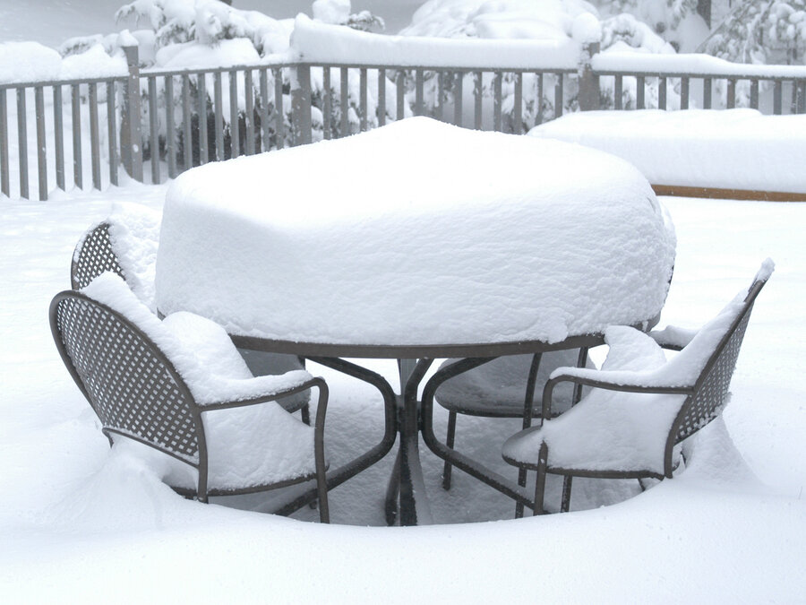 Please Send This Man Photos Of Snow On Your Patio Furniture