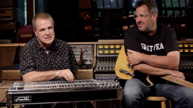 Paul Franklin (left) and Vince Gill. (Courtesy of the artist)