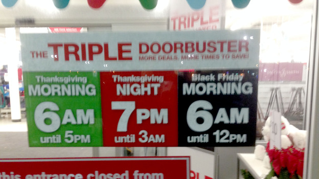 K-Mart was one of the chains deciding to open early this Thanksgiving Day. (Staten Island Advance /Landov)