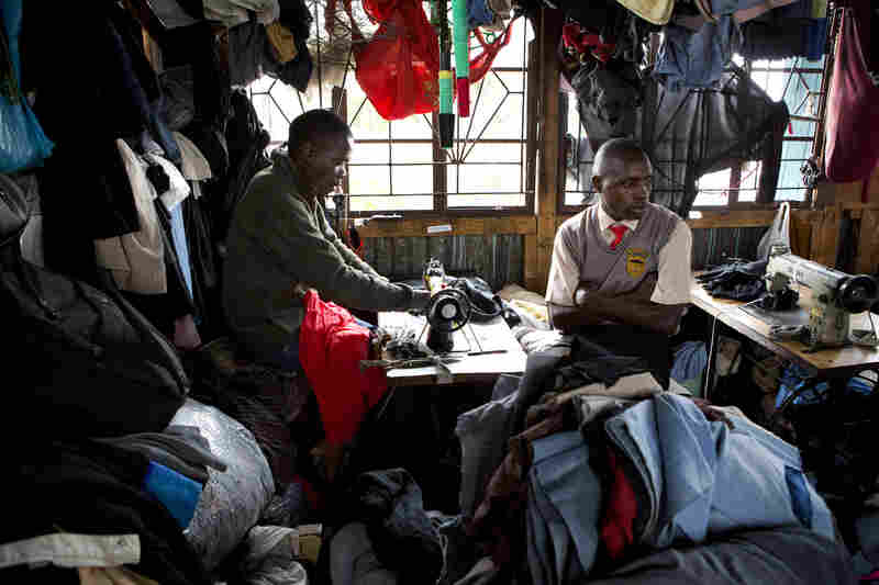 Customers bring T-shirts to tailors to have them mended or resized to then sell for a higher price in the market or elsewhere.