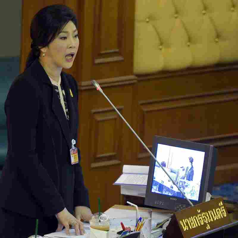 Thai Prime Minister Yingluck Shinawatra speaks during a no-confidence debate earlier this week.