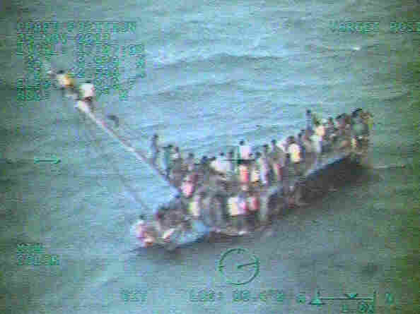 More than 100 Haitians were rescued this week after their crowded sailboat capsized. At least 30 more were reported dead.
