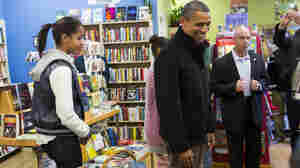 President Obama shopped with daughter Malia at One More Page Books in Arlington, Va., on Small Business Saturday last year.