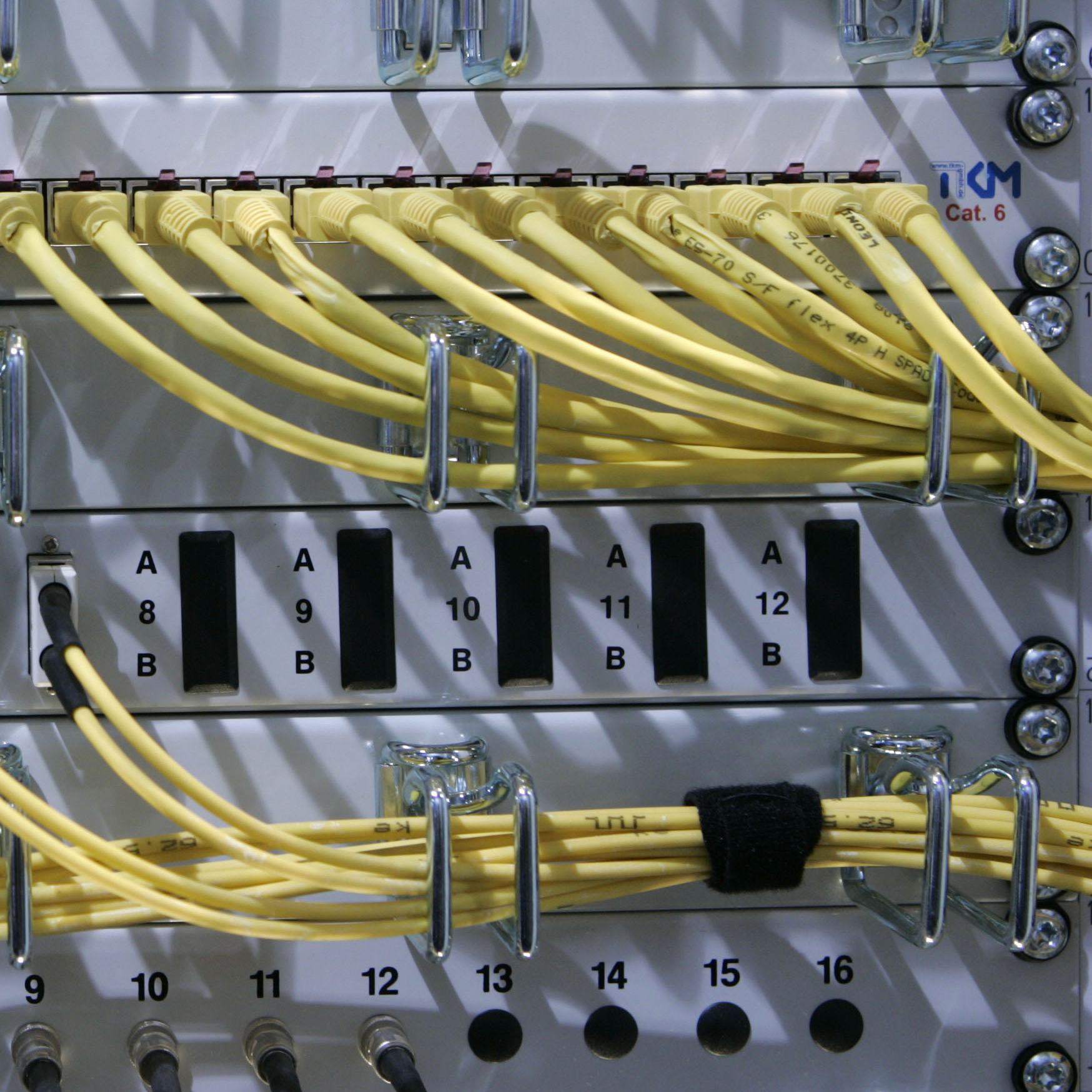 A 2008 file photo shows network cables being connected to a server.