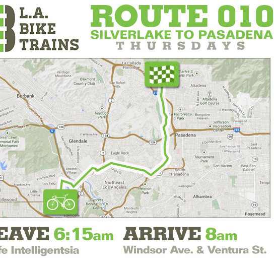 L.A. Bike Trains Route 010.