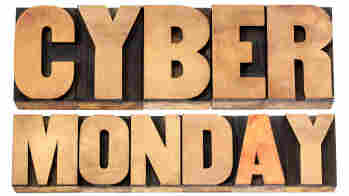 Cyber Monday is an online shopping and marketing concept.