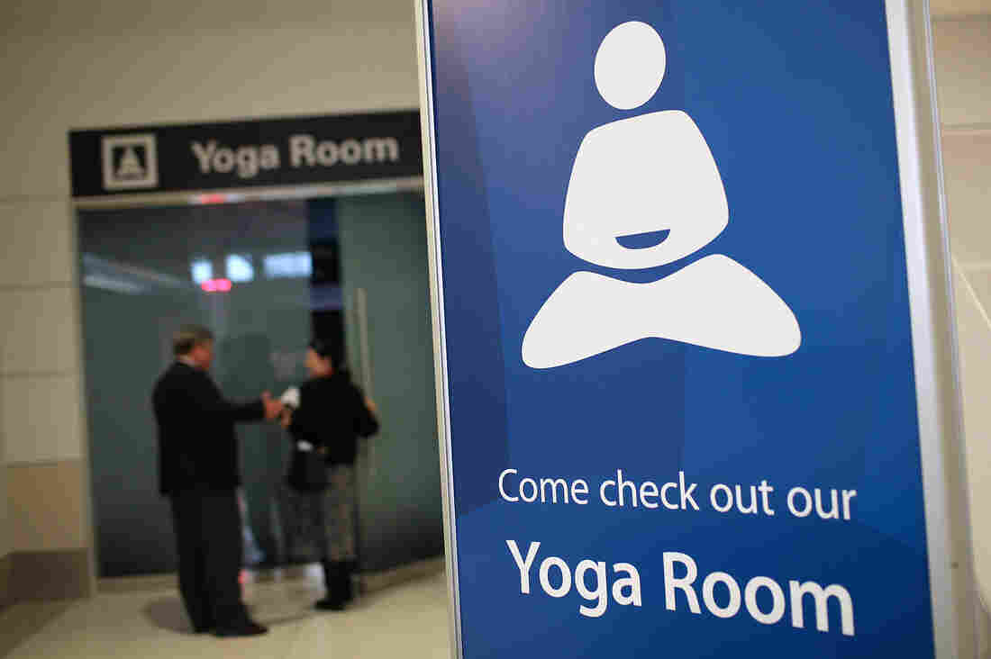 San Francisco International Airport's yoga room in Terminal 2.