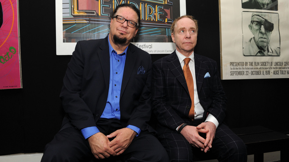 Penn (left) and Teller documented a different kind of magic in the film, which Penn narrated and Teller directed. (Getty Images)