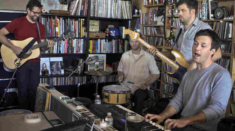 The Dismemberment Plan performs a Tiny Desk concert in October 2013.