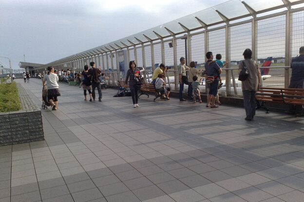 The rooftop observation deck at Narita International Airport outside Tokyo.