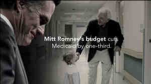 "This image, provided by the Obama For America campaign, shows a still frame made from a video ad entitled ""Only Choice."""