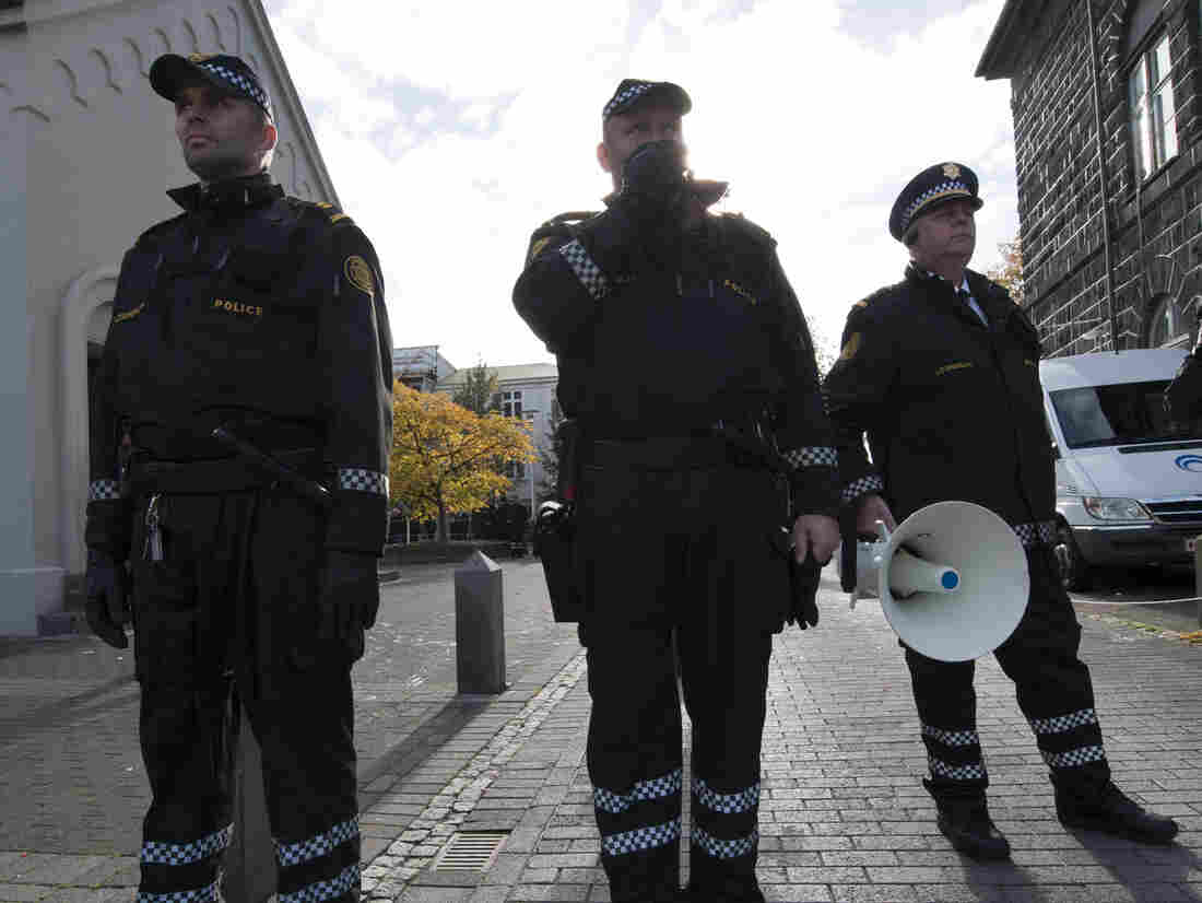 Police officers in Reykjavik, Iceland, are rarely armed.