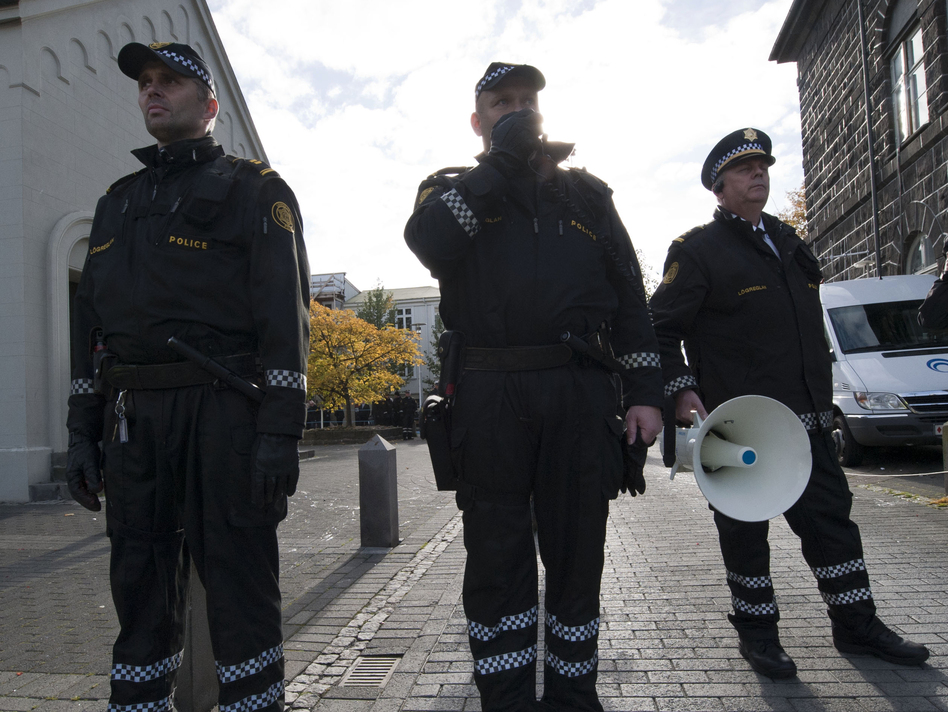 Police officers in Reykjavik, Iceland, are rarely armed. (Halldor Kolbeins/AFP/Getty Images)
