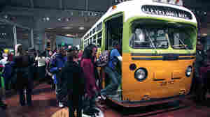 Schoolchildren tour the bus that civil rights icon Rosa Parks made famous when she refused to give up her seat.