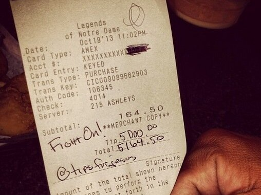 TipsForJesus' Is Leaving Thousands Of Dollars For Servers