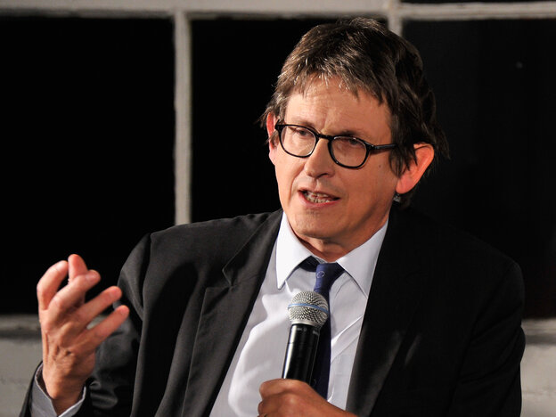 Guardian Editor-In-Chief Alan Rusbridger speaks at a debate about th