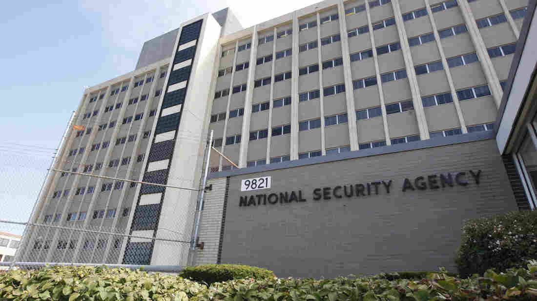 The National Security Agency building at Fort Meade, Md.