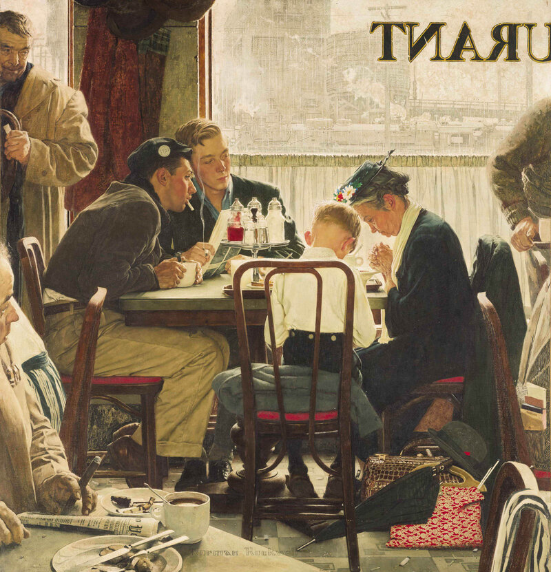 Norman Rockwell S Saying Grace Sells For 46 Million At Auction The Two Way Npr