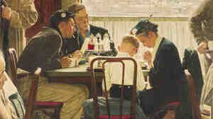 Norman Rockwell's 1951 painting Saying Grace sold for $46 million Wednesday — a record for the artist.