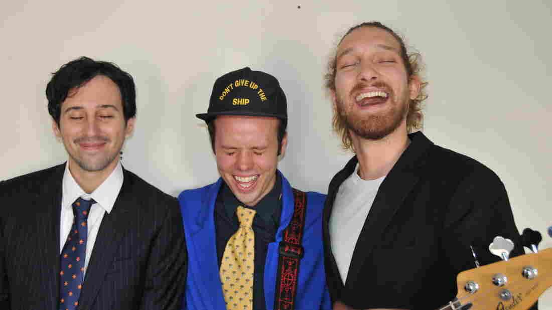 From left: Video director Joe Sabia, bassist Michael Thurber and recording engineer Matt McCorkle of CDZA.