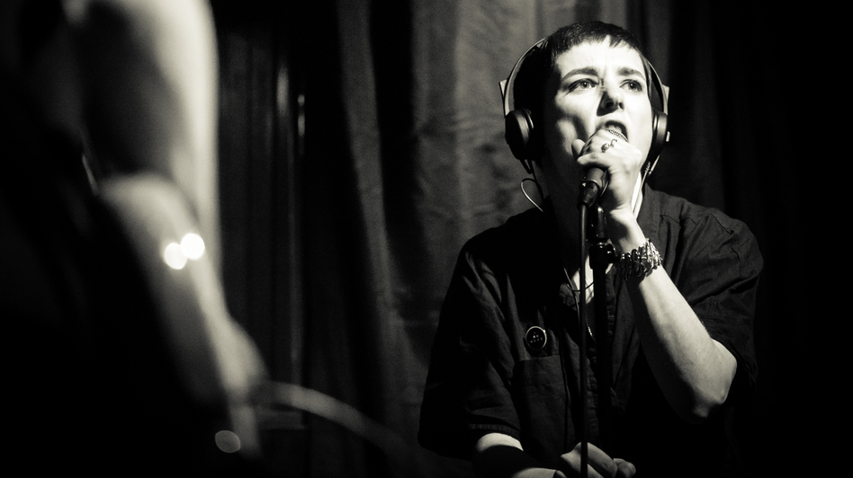 Savages lead singer Jehnny Beth during the band's visit to KEXP in Seattle. (KEXP)