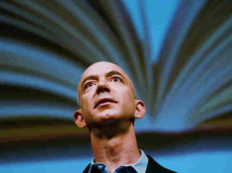 Amazon.com founder and CEO Jeff Bezos speaks at a 2009 event in New York unveiling a new version of the Amazon Kindle.