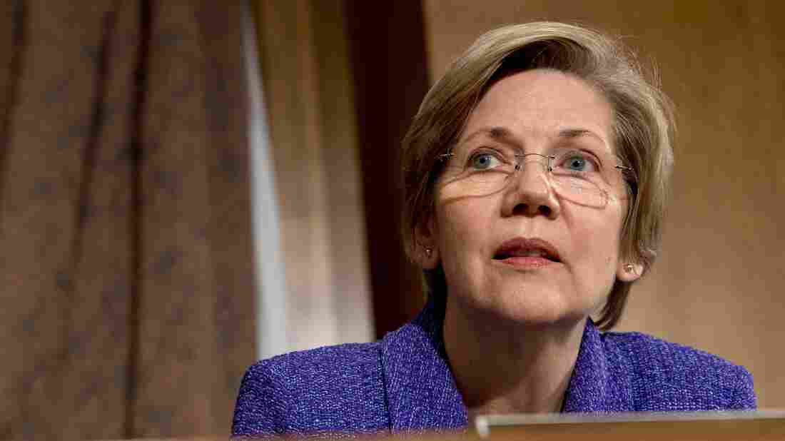 """Sen. Elizabeth Warren, D- Mass., listens to testimony during a Banking Committee hearing on Nov. 12. In a Senate floor speech on Social Security last month, Warren said, """"With some modest adjustments, we can keep the system solvent for many more years, and we could even increase benefits."""""""