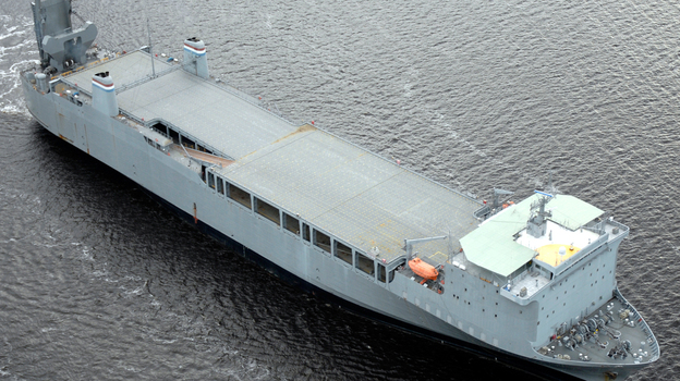 If a plan taking shape is finalized, the MV Cape Ray, managed by the U.S. Department of Transportation, will be turned into a floating chemical weapons disposal plant. (U.S. Department of Transportation Maritime Administration)