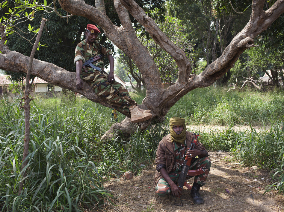 Seleka fighters pose for a photograph in Bossangoa, Central African Republic, on Nov. 25. The landlocked country has been gripped by violence since the mainly Muslim rebels seized power in the majority Christian country in March. (Joe Penney/Reuters/Landov)
