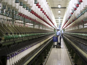 Inside a yarn factory in Indonesia.