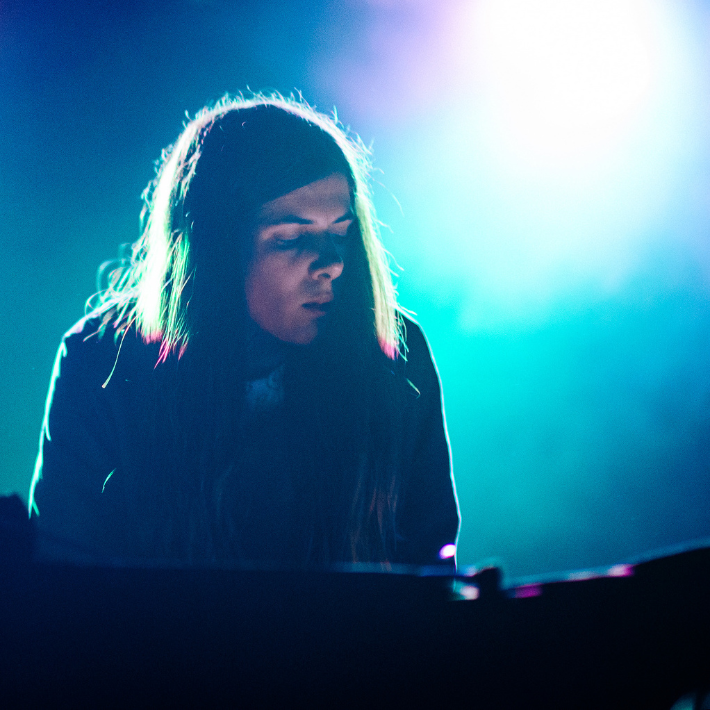 Laurel Halo, seen here performing at the 2013 Mountain Oasis Electronic Music Summit, released one of our favorite dance tracks of the year.