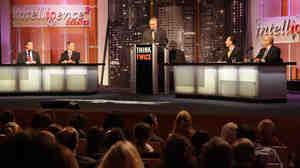 Dr. Neal Barnard, Gene Baur, Chris Masterjohn and Joel Salatin debate eating meat for Intelligence Squared with moderator John Donvan.