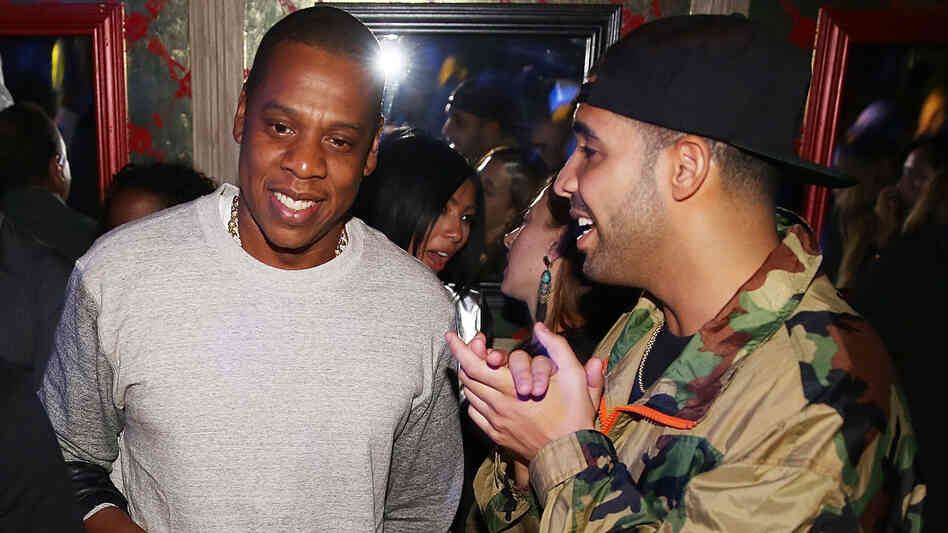 Jay Z (left) and Drake at Kevin Durant's birthday party in New York City on September 22.