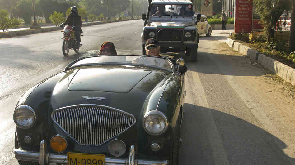 Mohsin Ikram drives a 1954 Austin-Healey across Pakistan. As the head of Pakistan's Vintage and Classic Car Club, he's doing it mostly because he loves the open road. But he also sees it as a statement against the turmoil tha