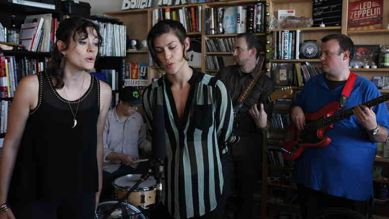 Dessa performs at a Tiny Desk Concert on Sept. 24, 2013.
