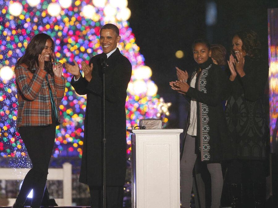 President Obama Lights National Christmas Tree : The Two-Way : NPR