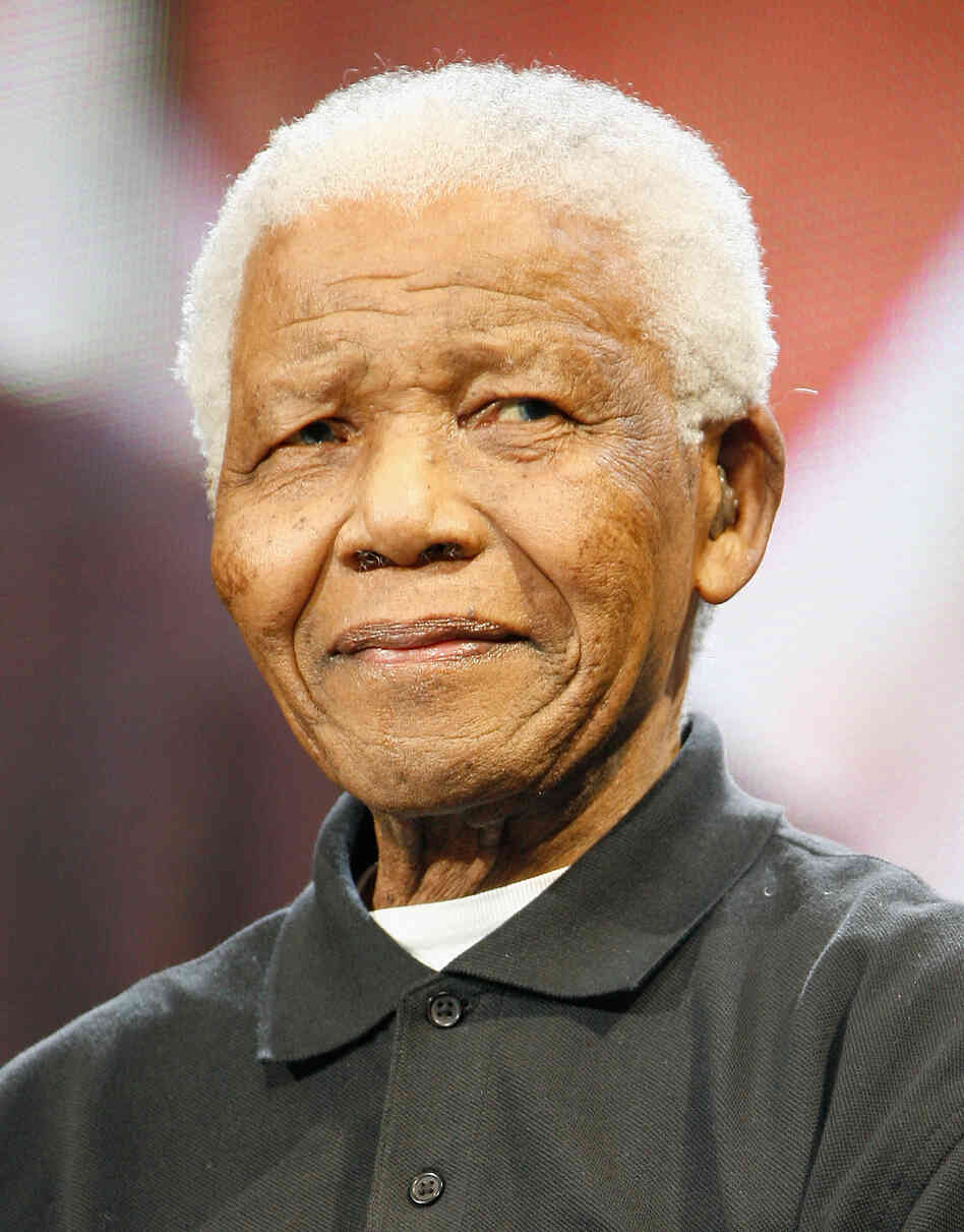 Nelson Mandela, pictured at a concert at London's Hyde Park in 2008. Mandela died Thursday in South Africa. He was 95.