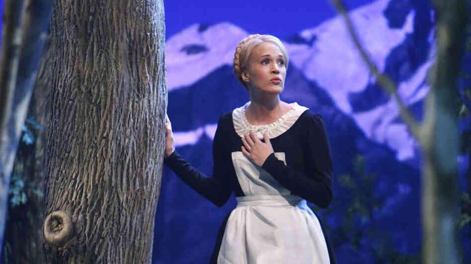 """DOUGH a crust, an unbaked crust ..."": Carrie Underwood may have played Maria in NBC's The Sound of Music Live, but on Twitter, it was @DiGiorno that stole the show."