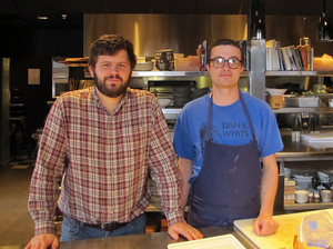 Chefs Andrew Taylor, left, and Mike Wiley, co-owners of two Portland, Maine, restaurants, say the moratorium is worth it if it helps sustain the shrimp population.